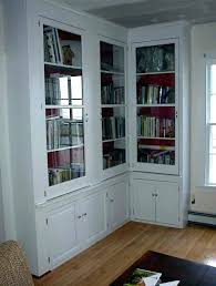 Corner Bookcases With Doors Corner Billy Bookcase Bejohome Co