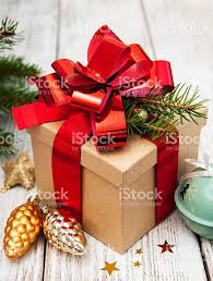 christmas gift box with decorations stock photo 614136158 istock