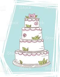simple drawing of a wedding cake clip art vector images