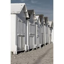 cabine de plage bois set de 4 images cabanes dune ponton l 30 x h 40 cm leroy merlin