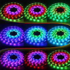 color changing led strip lights with remote led strip light is comprised of an elongated flexible strip of