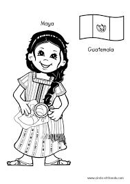 dessin à colorier de maya une charmante fille originaire du