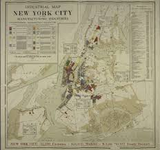 New York Map Us New York City Manufacturing Map Of Past Industry