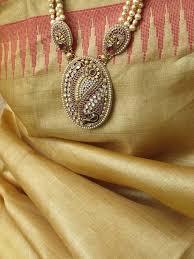 long pearl necklace set images Designer kundan meenakari pearl necklace set jpg
