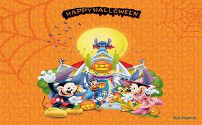 cartoon happy halloween background disney halloween 268972 walldevil