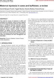 maternal dystocia in cows and buffaloes a review