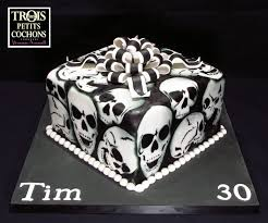 happy birthday tim black and white skull cake this is made