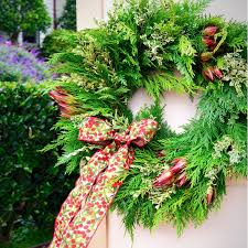Live Decorated Christmas Wreaths by Live Wreaths Cedar Wreath Door Wreaths For Christmas Fresh