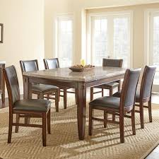 Dining Room Side Chairs Steve Silver Eileen 7 Marble Topped Dining Table With