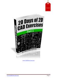 20 days of 2d cad exercises part 1