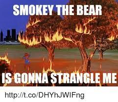 Smokey The Bear Meme Generator - smokey the bear is gonnastrangleme httptcodhyhjwifng meme on me me