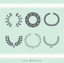 antique wreath leaves decoration vector free