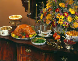 thanksgiving buffet unclutterer