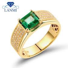 5mm diamond luxurious princess cut 5 5x5 5mm 18k yellow gold diamond green