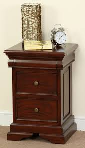 Solid Mahogany Bedroom Furniture by Sleigh Solid Mahogany 3 Drawer Bedside Table Bedroom Furniture