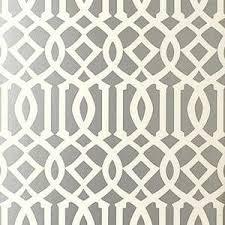 schumacher imperial trellis silver wallpaper