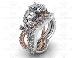 gold bridal sets marseille 1 60ct white diamond white gold skull bridal set