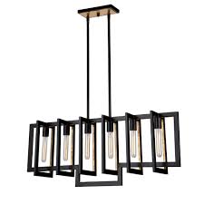 Oil Rubbed Bronze Kitchen Island Lighting by Capetown 6 Light Oil Rubbed Bronze Island Light Artcraft Lighting