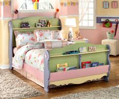 charming kids bed ideas with unique bookshelf headboard ideas
