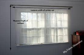 How To Measure Windows For Curtains by My Fabric Obsession Basic No Hem Curtain Drape Tutorial