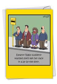eleanor rigby cartoons birthday paper card tim whyatt