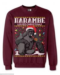 harambe loved christmas u0027 holiday sweatshirt sells fast after