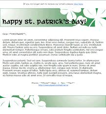 st patrick u0027s day email template 2 free group email and mass