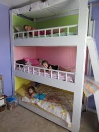 My Hubby Made This Awesome Triple Bunk For Our Girls They Love It - Girls room with bunk beds