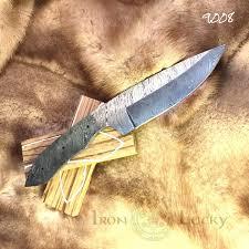 Damascus Kitchen Knives For Sale Set Handmade Damascus Steel Billet For Big Hunting Knife Zebrano