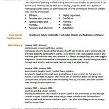 Jobhero Resume by Sporting Coach Resume Contegri Com