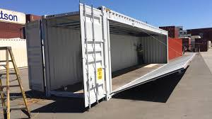 40 u0027 shipping container side hinge wall opening youtube