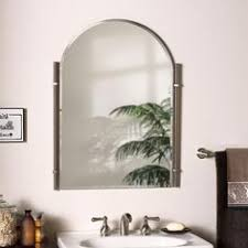 Brushed Nickel Bathroom Mirror by Classic Scroll Antique Nickel Wall Mirror 1048 Framed Mirrors