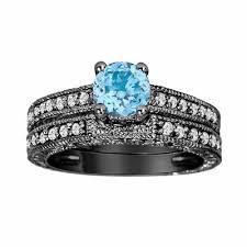 blue topaz engagement rings topaz diamond engagement ring and wedding anniversary diamond