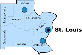 Saint Louis Zip Code Map by Missouri Department Of Natural Resources