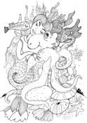 beautiful mermaid coloring pages beautiful mermaid witch and ugly fish coloring page free