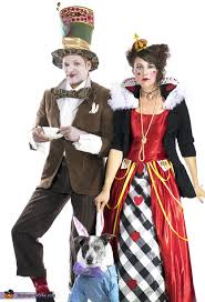 hatter queen of hearts and the white rabbit costume