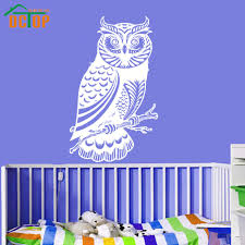 dctop kids favorite cute owl wall stickers for female bedroom