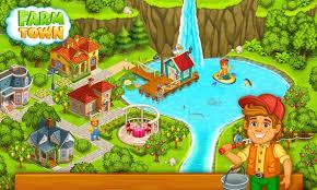 download game farm village mod apk revdl farm town happy village near small city and town apk download
