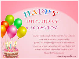 cousin birthday card birthday wishes for cousin wordings and messages
