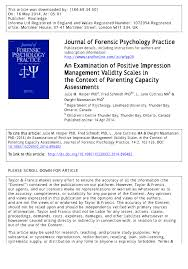 an examination of positive impression management validity scales