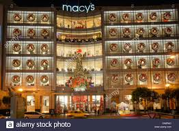 macy s department store decorations san francisco stock