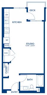 floor plan of studio apartment studio 1 u0026 2 bedroom apartments in glendale ca camden glendale