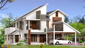 home design blog india 2390 sq ft modern sloping roof house home appliance slant luxihome