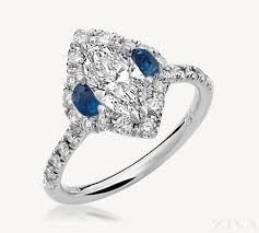 marquise halo engagement ring halo engagement ring with sapphire accent