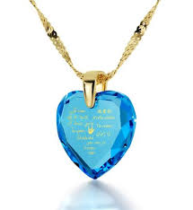 cubic zirconia heart necklace images Gold plated heart necklace i love you in 12 languages 24k gold jpg