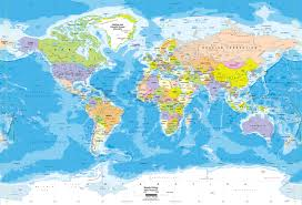 Large World Map Poster by Contemporary Premier Large World Wall Map Poster Within Maps Of