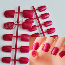 red color glitter nail tips promotion shop for promotional red