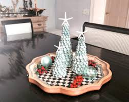 seashell christmas tree tabletop beach decor