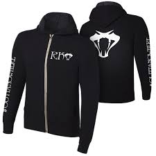 randy orton rko outta nowhere wwe authentic mens zipper hoody