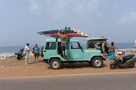 beach jeep surf photo blog kerala india tsunami season